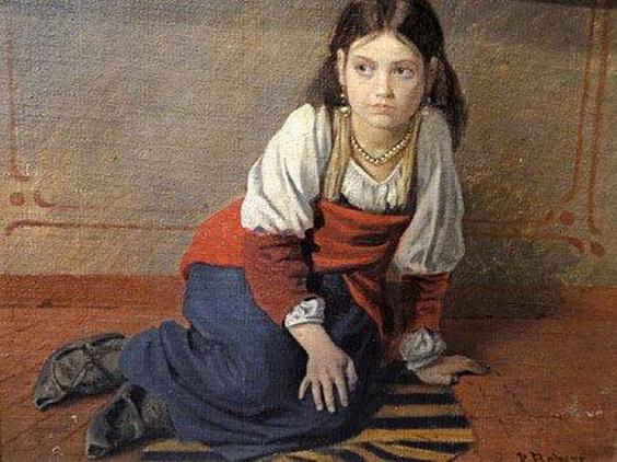 leo paul robert - Portrait d'une jeune fille