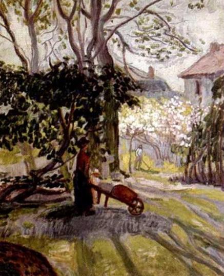 Jean Peske  - Femme a la brouette