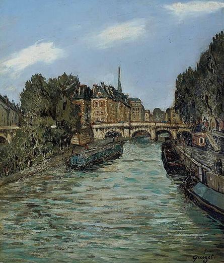 Alphonse Quizet -  Pont Neuf Cote du Quai des Grands Augustins