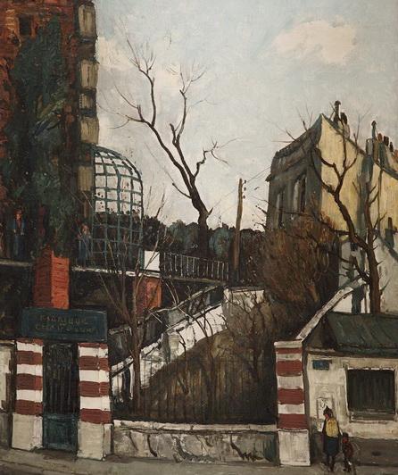Alphonse Quizet -  LA VERRIERE A PANTIN PRES DES FORTIFICATIONS