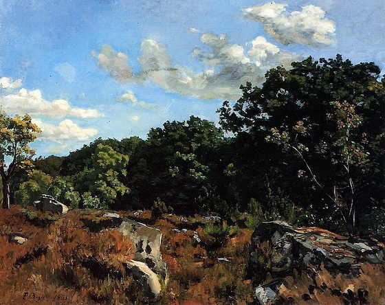 Bazille - Paysage a Chailly