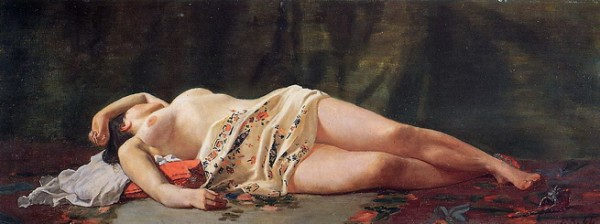 Jean Bazille - Reclining Nude