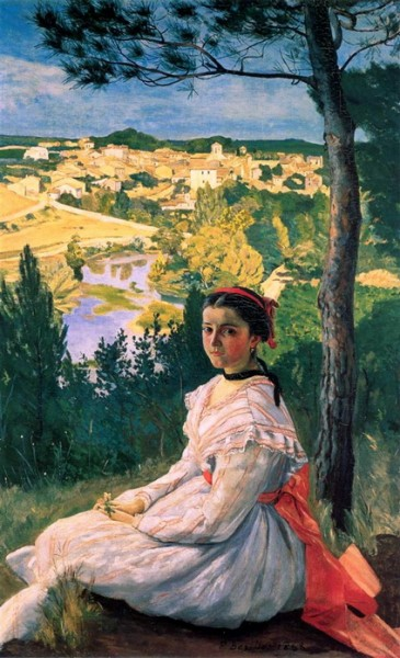 Jean Frederic Bazille - View of the Village