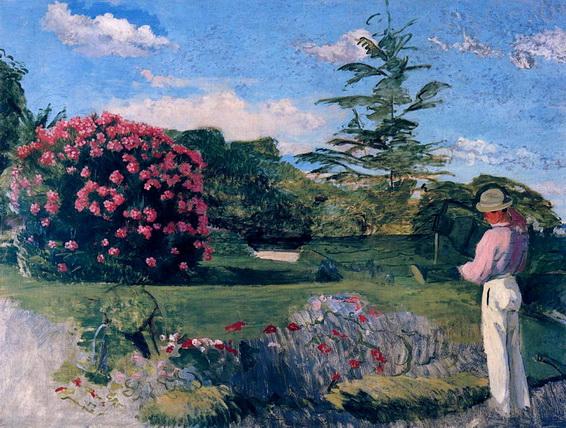 Jean Frederic Bazille - The Little Gardener