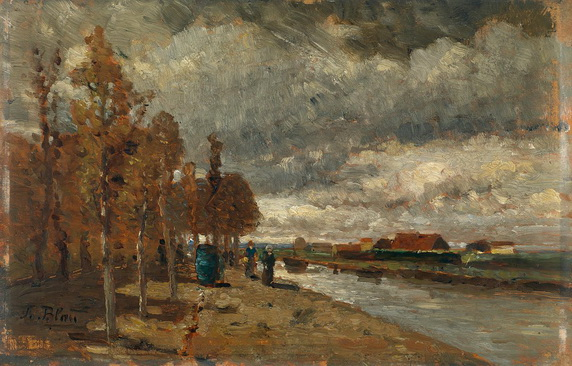 Tina Blau - Kanal in Holland
