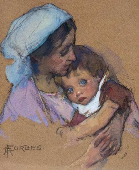 Elizabeth Adela Forbes - Mother and child