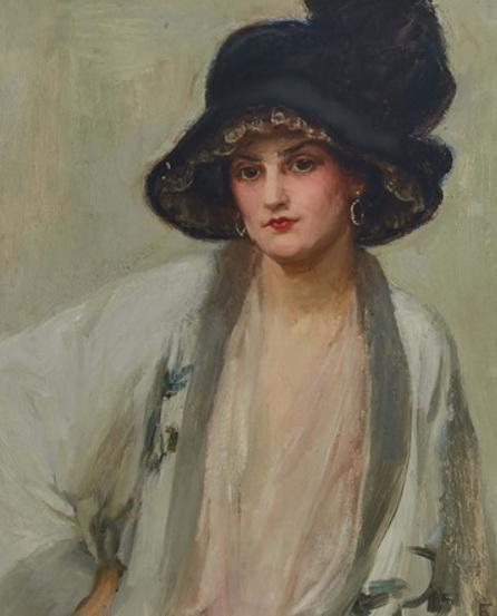Elizabeth Adela Forbes - LADY IN A BLACK HAT
