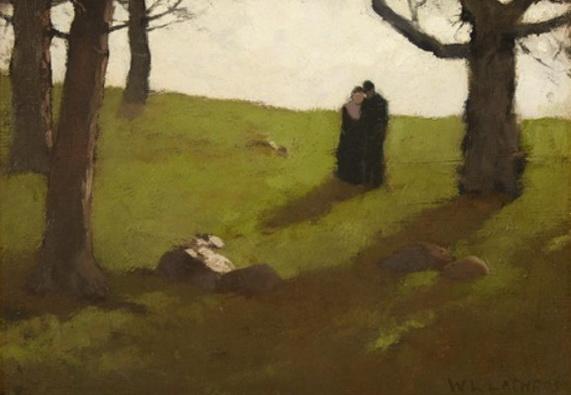 William Langson Lathrop - THE LOVERS