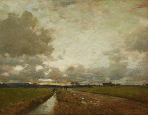 William Langson Lathrop - Twilight after the storm