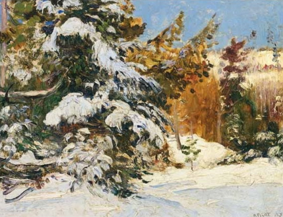Robert Wakeham Pilot - Snow laden trees