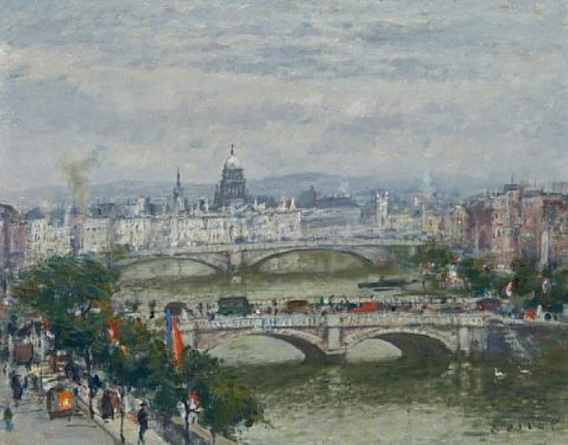 Robert Wakeham Pilot - A panoramic view of Paris looking over the Pont Neu