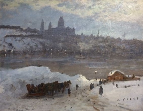 Robert Wakeham Pilot - View of Quebec at Twilight from Levis