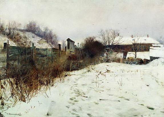 Светославский - Усадьба художника зимой