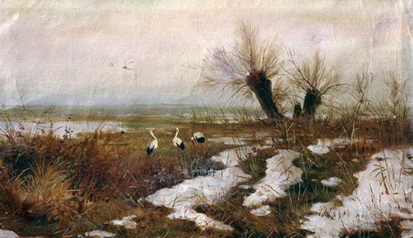 Светославский - Пейзаж с аистами
