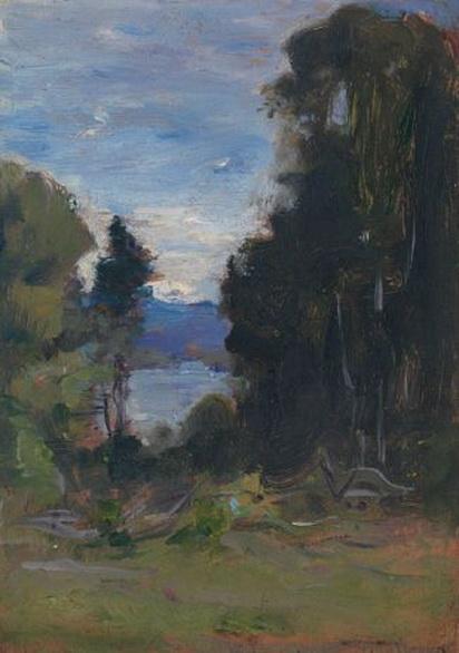 Douglas Volk - View Through the Trees