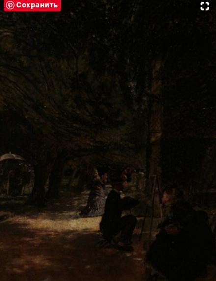 Douglas Volk - Waldlichtung mit zwei Malern vor Staffeleien