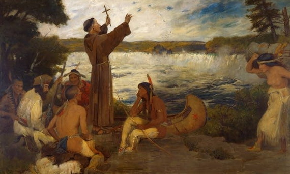 Douglas Volk - Father Hennepin Discovering the Falls of St. Anthony