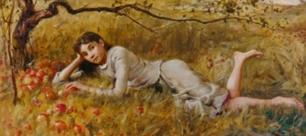 Douglas Volk - At rest in the apple orchard