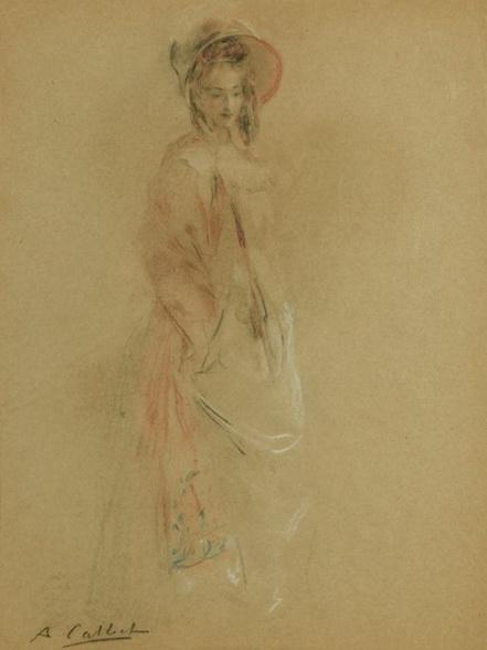 Antoine Calbet - Femme au chapeau