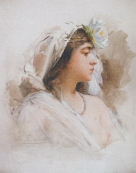 Antoine Calbet - Courtisane orientale