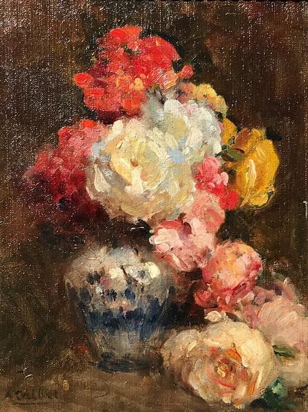 Antoine Calbet - Bouquet de fleurs