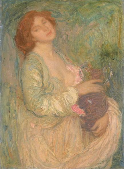 Edmond Aman-Jean - Woman with Vase