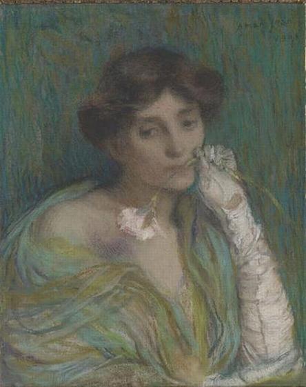 Edmond Aman-Jean - Ritratto di donna