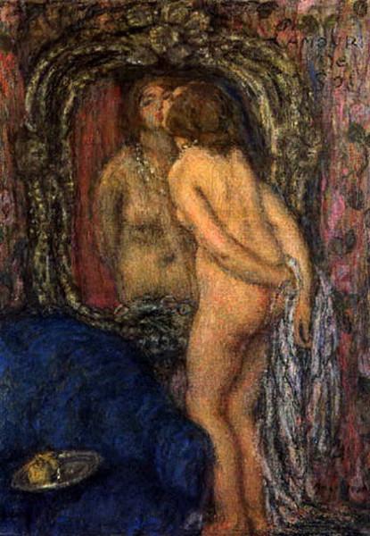 Edmond Aman-Jean - Self Love