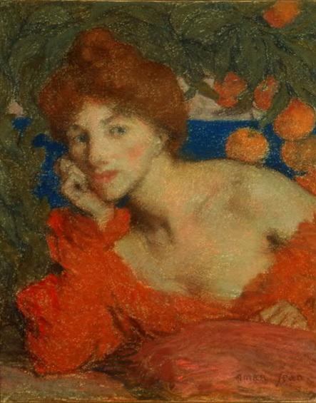 Edmond Aman-Jean - Under an orange tree