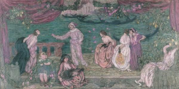 Edmond Aman-Jean - Festival of Venice