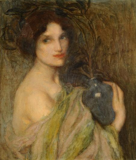 Edmond Aman-Jean - Mujer con el vaso azul