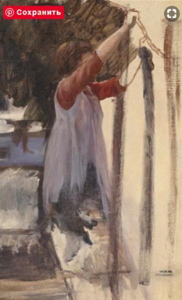 Otto Friedrich - laundry girl