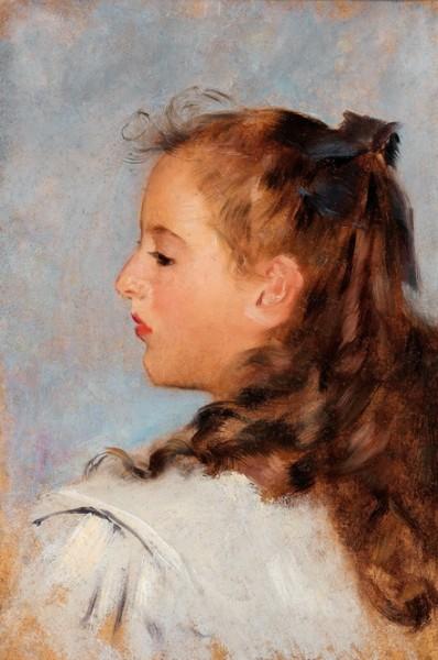 Otto Friedrich -  Profile Portrait of a Girl