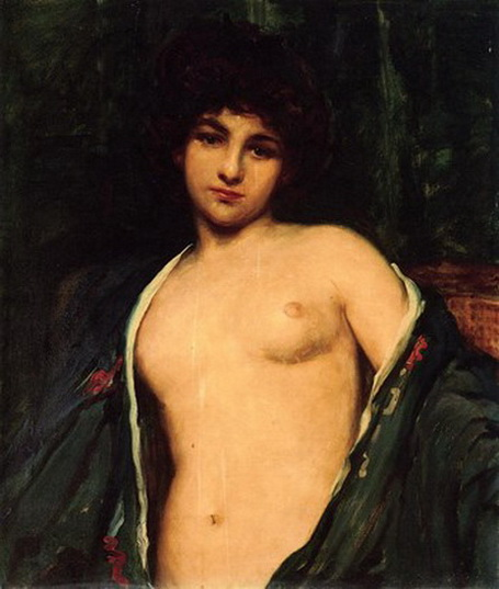 James Carroll Beckwith - Portrait of Evelyn Nesbitt