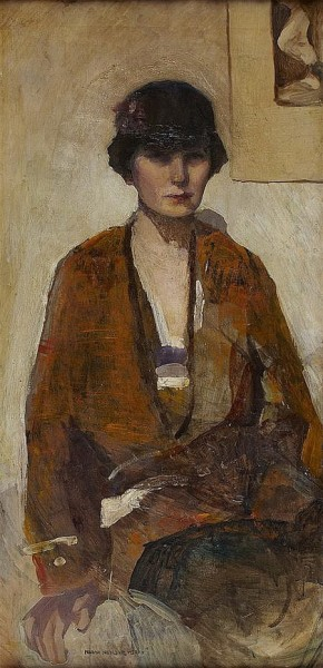 Norah Neilson Gray - SELF PORTRAIT IN CLOCHE HAT