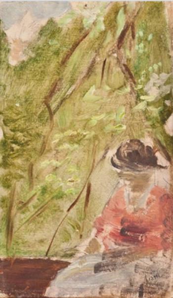 Cesare Ciani - Donna in giardino
