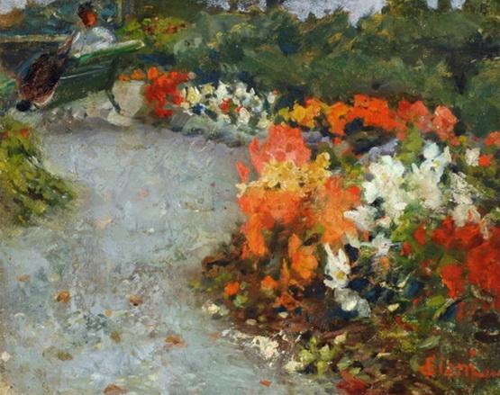 Cesare Ciani - Giardino con fiori