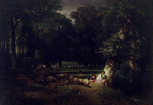 constant emile troyon - The Bathers