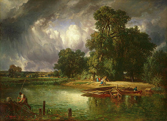 constant emile troyon - The Approaching Storm Painting