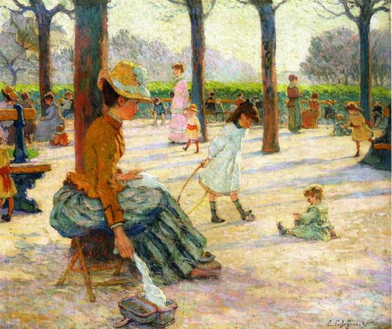 Emile Schuffenecker - The Square at Luxembourg Park