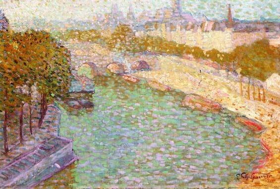 Emile Schuffenecker - Paris, the Seine