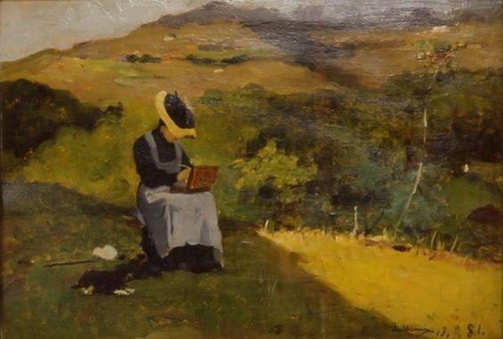Lorenzo Delleani - La pittrice