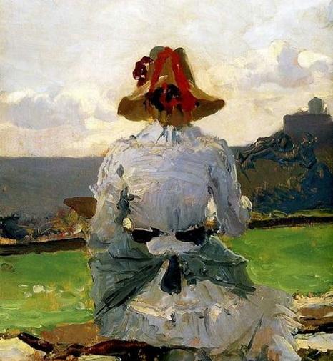 Lorenzo Delleani - -woman portrait