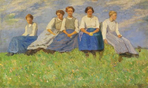 Carl Ludwig Noah Bantzer -  The Young Girls