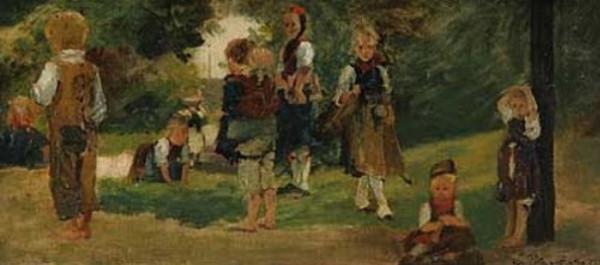 Carl Ludwig Noah Bantzer - Schwalmer Kinder