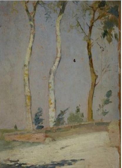 Francesco Gioli - Strada con alberi