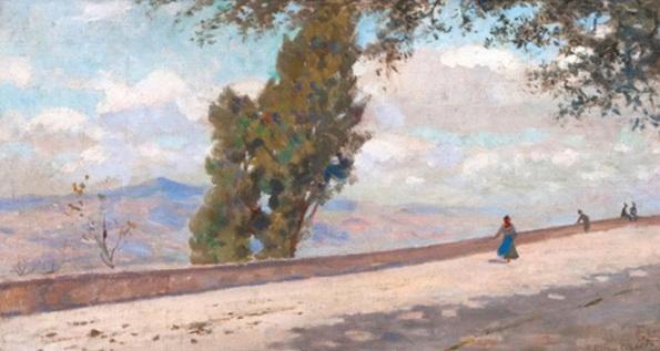 Francesco Gioli - Landschaft bei Volterra