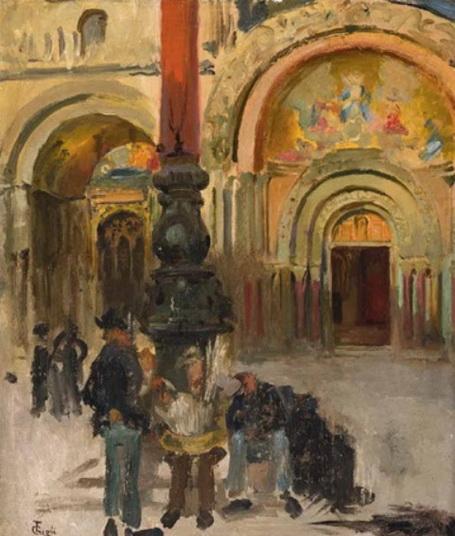 Francesco Gioli - Mehrere Personen vor einem Kirchenportal