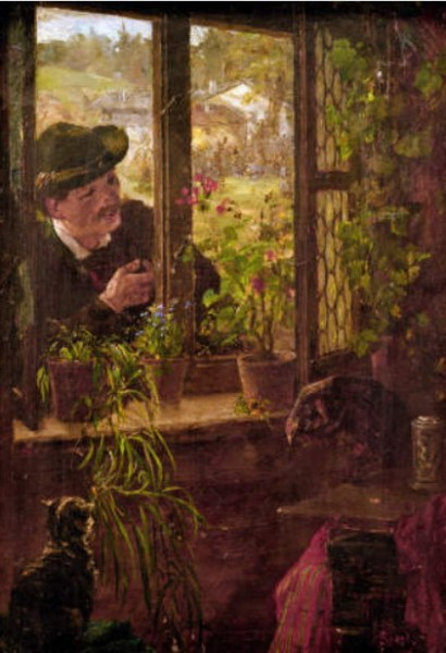 Johann Sperl - At the Window