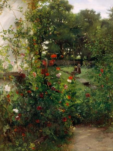 Johann Sperl - Leibls garden in Aibling